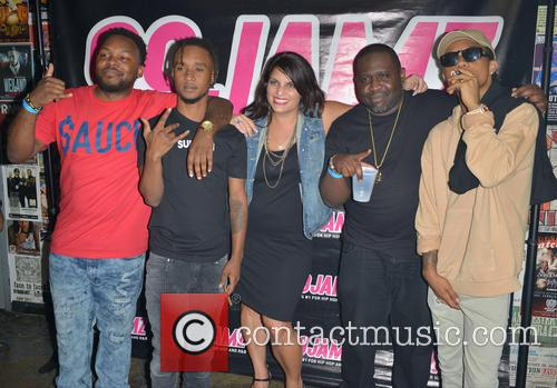 Rae Sremmurd, Dj Nailz, Slim Jxmmi, Jill Strada, Dj Nasty and Swae Lee 9