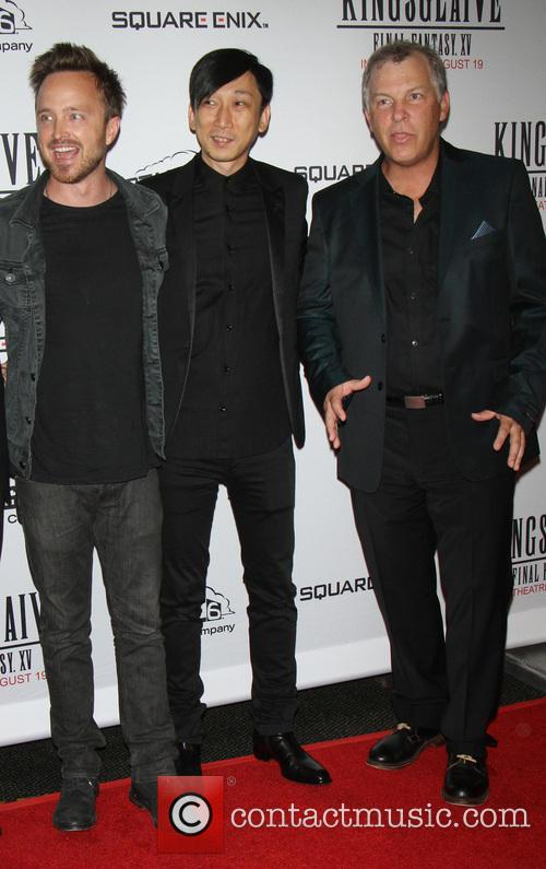 Aaron Paul, Takeshi Nozue and John Graham 10