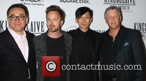 Actor Aaron Paul and director Takeshi Nozue attend...