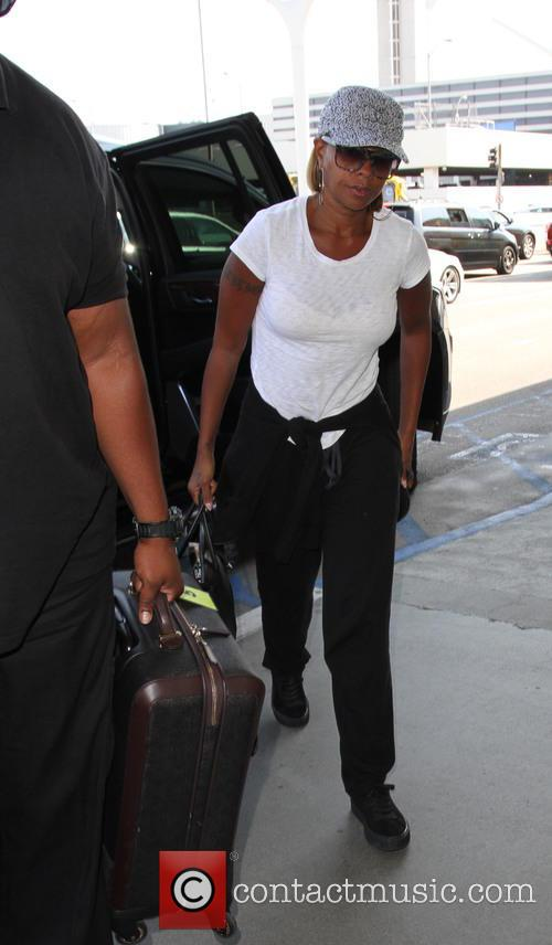 Mary J. Blige arrives at Los Angeles International...