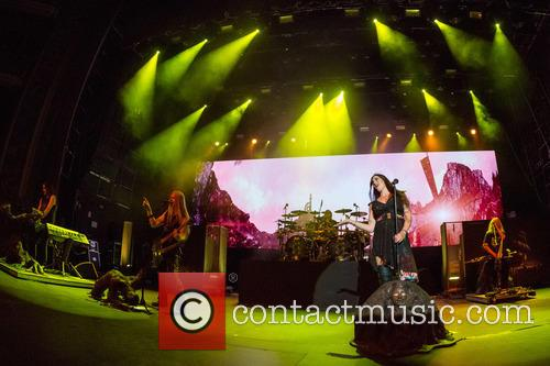 Nightwish, Floor Jansen, Marco Hietala, Tuomas Holopainen, Troy Donockley and Jukka Nevalainen 4