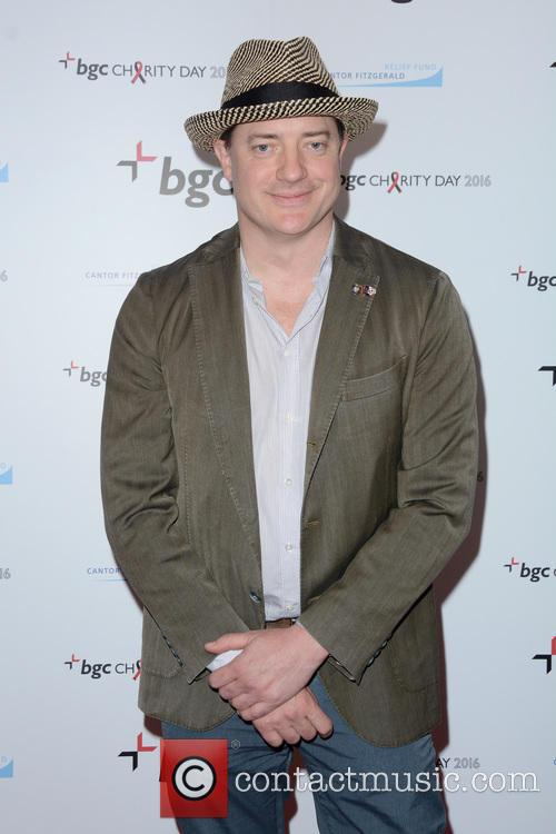 Brendan Fraser at the Cantor Fitzgerald Charity Day