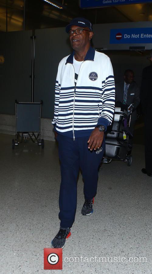 Samuel L. Jackson arrives at Los Angeles International...