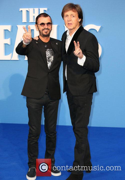Ringo Starr and Paul McCartney at The Beatles documentary premiere