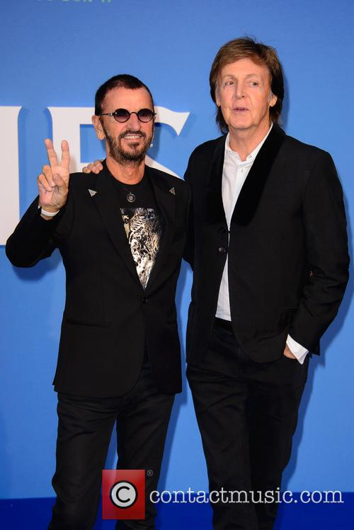 Ringo Starr and Paul McCartney at the premiere for 'Eight Days a Week'