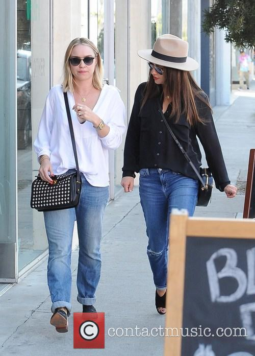 Lea Michele out and about with a friend...