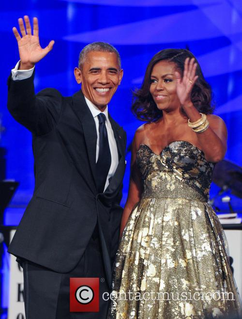 Michelle and Barack Obama at the annual Phoenix Awards