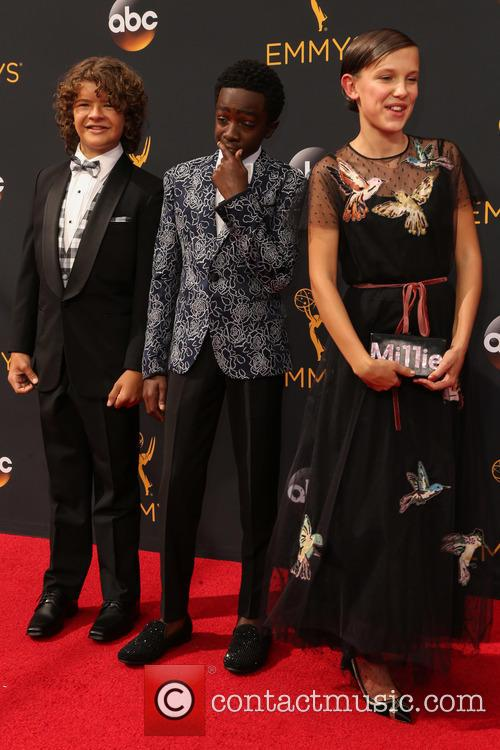Gaten Matarazzo, Caleb Mclaughlin and Millie Bobby Brown 1