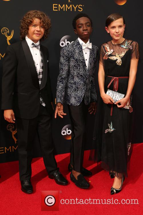 Gaten Matarazzo, Caleb Mclaughlin and Millie Bobby Brown 2
