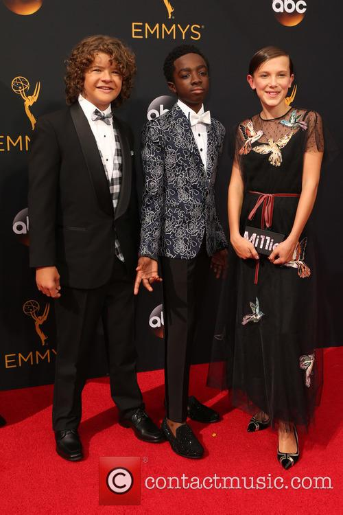 Gaten Matarazzo, Caleb Mclaughlin and Millie Bobby Brown 3