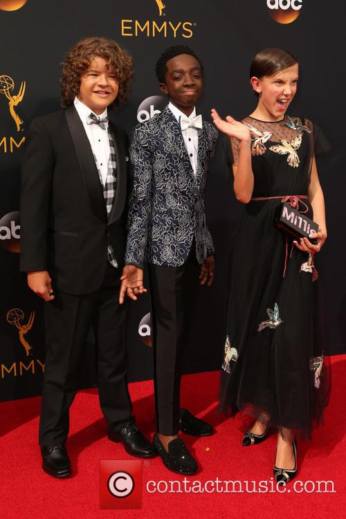 Gaten Matarazzo, Caleb Mclaughlin and Millie Bobby Brown 4