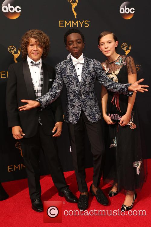 Gaten Matarazzo, Caleb Mclaughlin and Millie Bobby Brown 5