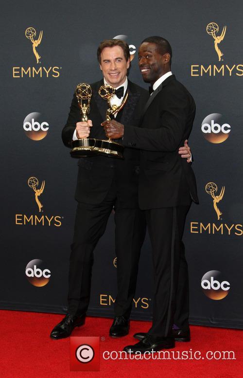 John Travolta and Sterling K. Brown