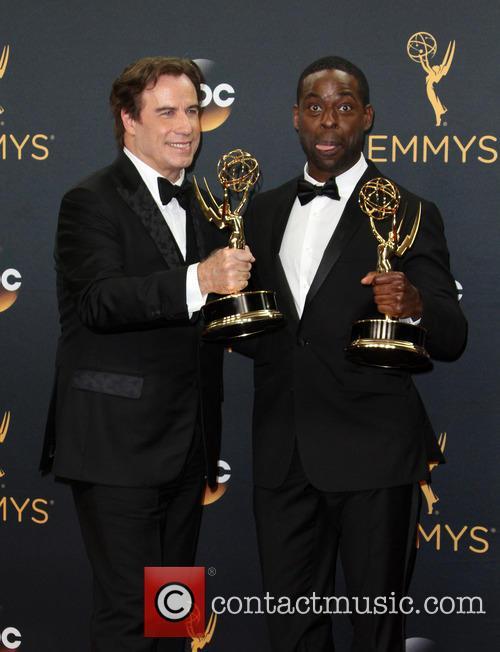 John Travolta and Sterling K. Brown 2