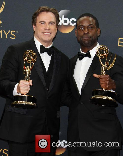 John Travolta and Sterling K. Brown 9