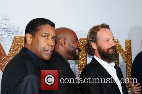 Denzel Washington, Antoine Fuqua and Peter Sarsgaard