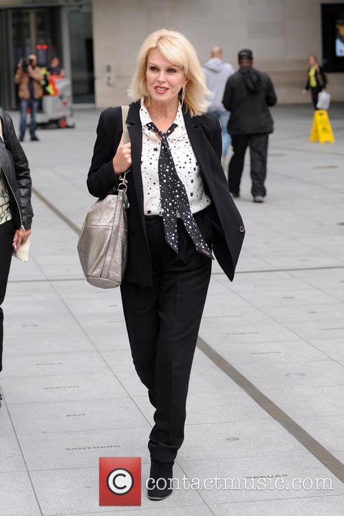 Joanna Lumley at BBC Radio studios
