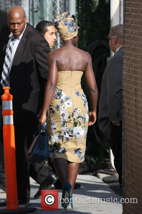 Lupita Nyong'o seen at the ABC studios