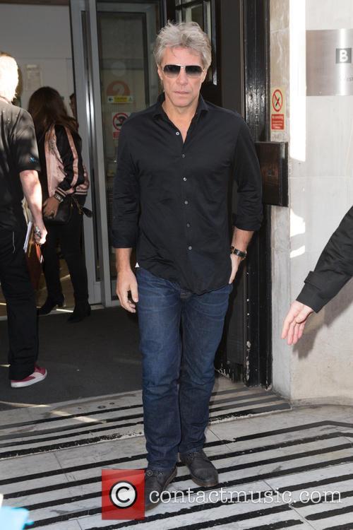 Jon Bon Jovi at the Radio 2 studio