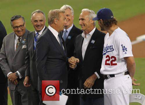Kevin Costner, Clayton Kershaw and Sandy Koufax 4