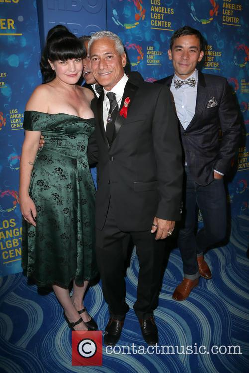 Pauley Perrette and Greg Louganis