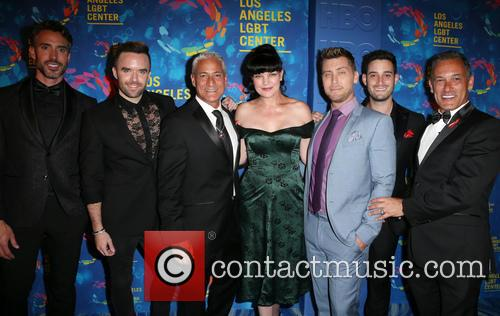 Paul Hollowell, Brian Justin Crum, Greg Louganis, Pauley Perrette, Lance Bass, Michael Turchin and Johnny Chaillot 1