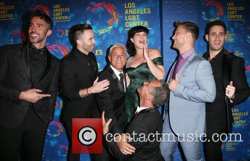 Paul Hollowell, Brian Justin Crum, Greg Louganis, Pauley Perrette, Lance Bass, Michael Turchin and Johnny Chaillot 2
