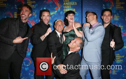 Paul Hollowell, Brian Justin Crum, Greg Louganis, Pauley Perrette, Lance Bass, Michael Turchin and Johnny Chaillot 3