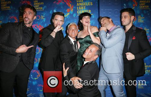 Paul Hollowell, Brian Justin Crum, Greg Louganis, Pauley Perrette, Lance Bass, Michael Turchin and Johnny Chaillot 4