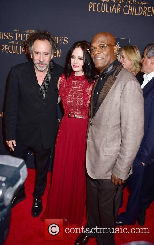 Tim Burton, Eva Green and Samuel L. Jackson 7