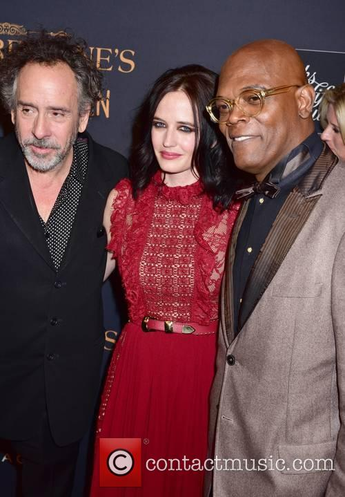 Tim Burton, Eva Green and Samuel L. Jackson 8