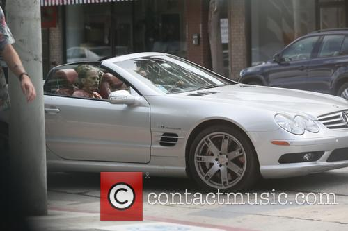 Steven Tyler being driven around West Hollywood