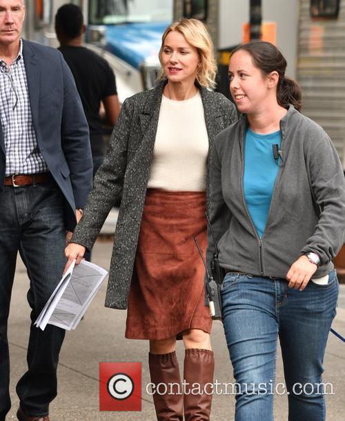 Naomi Watts films scenes for new Netflix series...