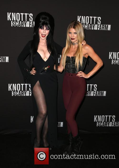 Cassandra Peterson, Aka Elvira and Annalynne Mccord 11