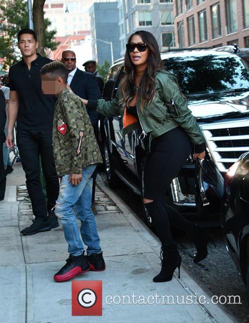 Friends visit Kim Kardashian's apartment in New York...
