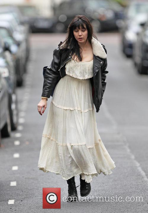 Daisy Lowe on her way to rehearsals for...