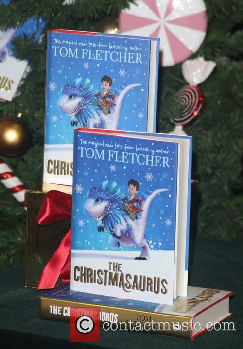 Tom Fletcher signs his new children's book 'The...