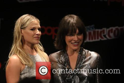 Ali Larter and Milla Jovovich
