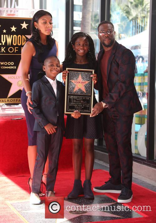 Kevin Hart, Eniko Parrish, Hendrix Hart and Heaven Hart
