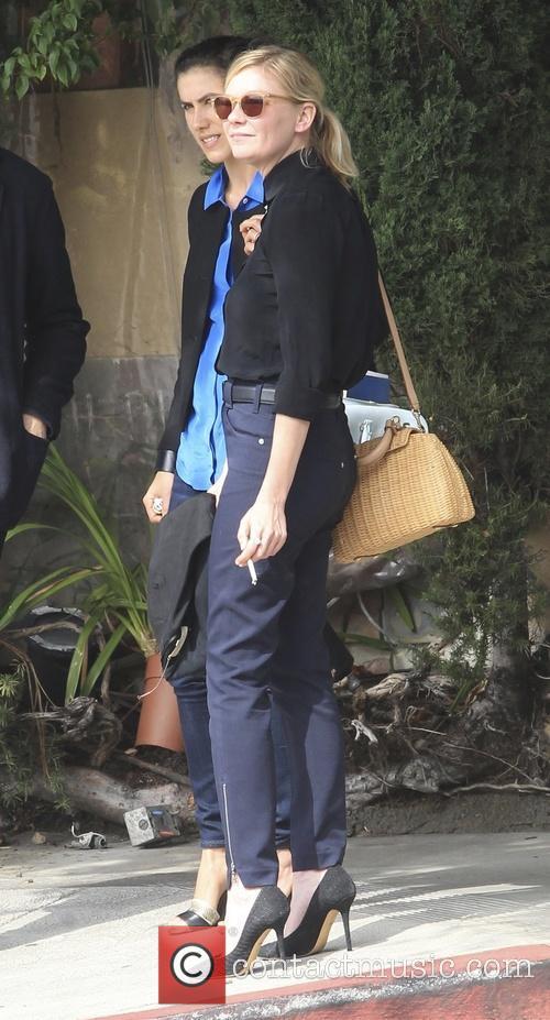 Kirsten Dunst leaving Picolino Restaurant