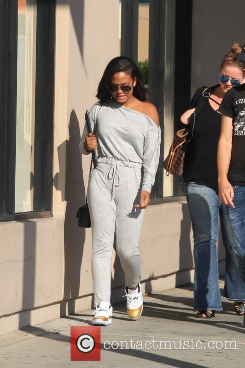Christina Milian out shopping on Melrose