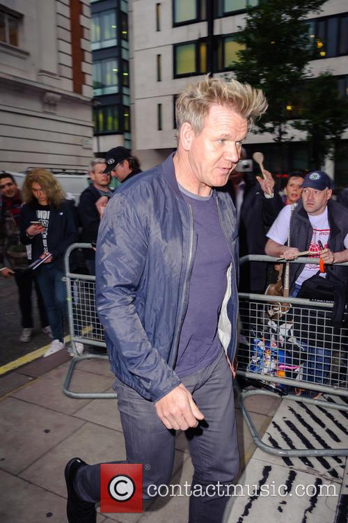 Gordon Ramsay arriving at BBC Radio 2