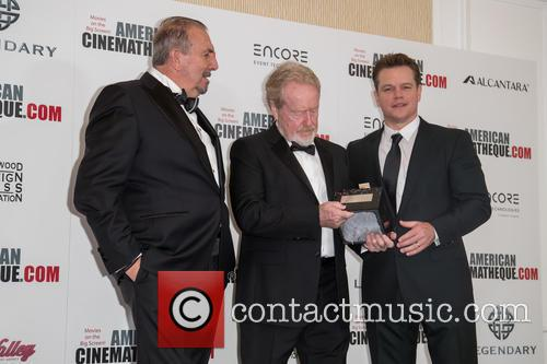 Andrea Boragno, Sir Ridley Scott and Matt Damon 2