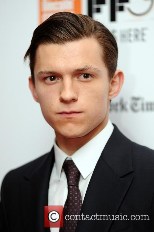 Tom Holland attends the 54th annual New York Film Festival