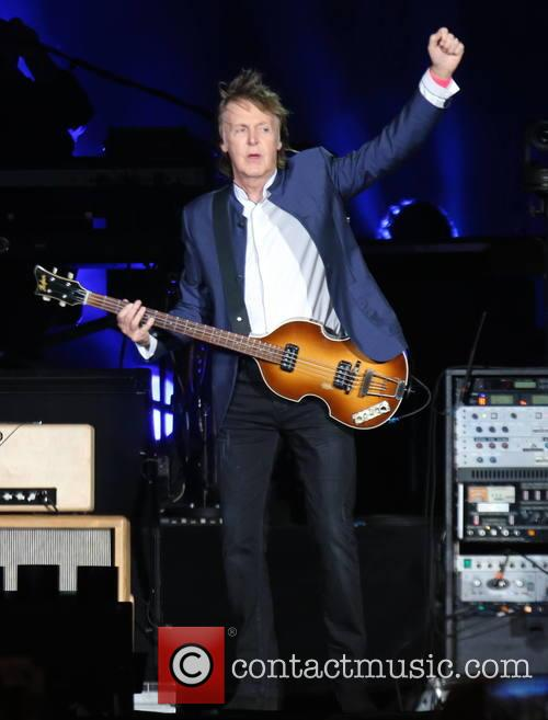 Paul McCartney performing at Desert Trip