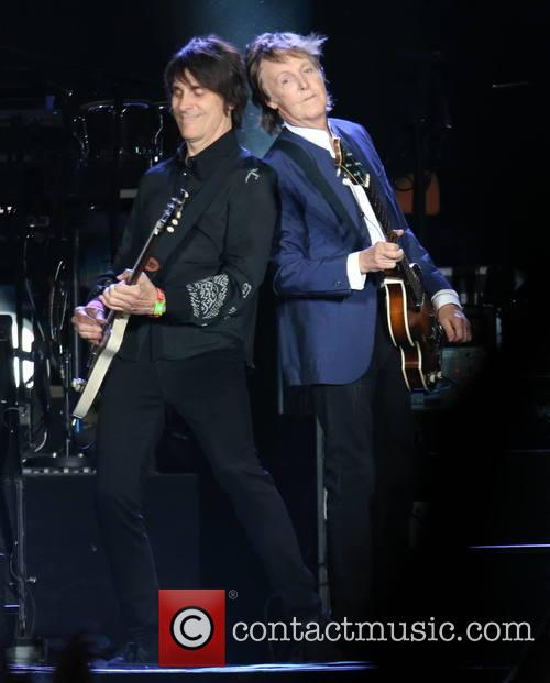 Paul McCartney performing at Desert Trip Festival