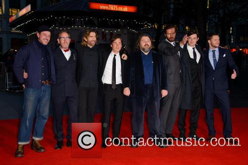 Enzo Cilenti, Michael Smiley, Ben Wheatley, Armie Hammer, Sam Riley, Cillian Murphy, Babou Ceesay, Sharlto Copley and Jack Reynor 2
