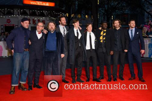 Enzo Cilenti, Michael Smiley, Ben Wheatley, Armie Hammer, Sam Riley, Cillian Murphy, Babou Ceesay, Sharlto Copley and Jack Reynor 3