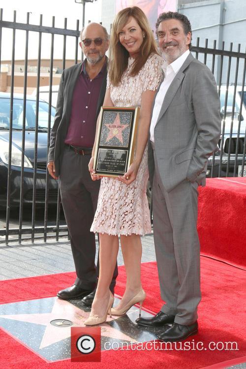 Richard Schiff, Allison Janney and Chuck Lorre 2