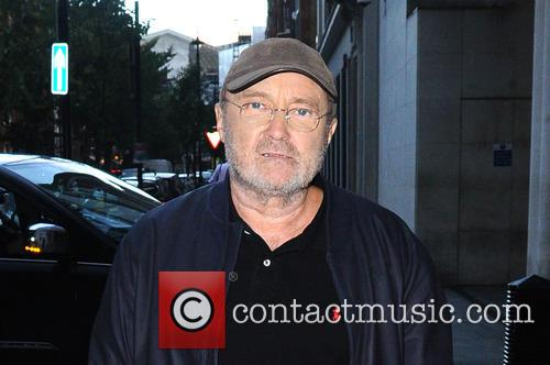 Phil Collins arrives at the BBC London studio
